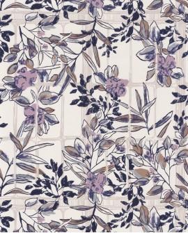 Papier peint Jardins Suspendus Casadéco Camelia Violine JDSP85235174