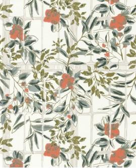 Papier peint Jardins Suspendus Casadéco Camélia Corail JDSP85233115