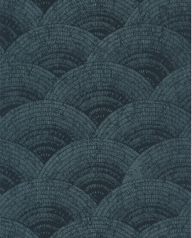 Papier peint vintage Oxford Casadeco Walter Irise Turquoise OXFD84086238