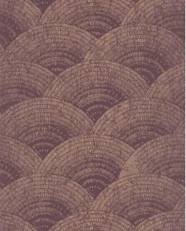 Papier peint vintage Oxford Casadeco Eventail Rose bordeaux gold OXFD84094525