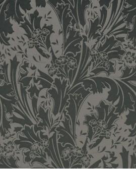 Tissu arabesques Oxford Casadeco Elisabeth Noir OXFD84279505