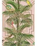 Papier peint tropical Montecolino Perroquets rose MCF190360