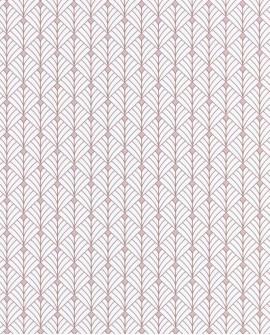 Papier peint géométrique Scarlett Caselio MISTINGUETT BLANC ROSE IRISE SRL100434049