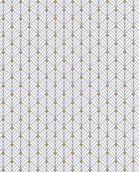 Papier peint géométrique Scarlett Caselio MISTINGUETT ANTHRACITE OR SRL100439025