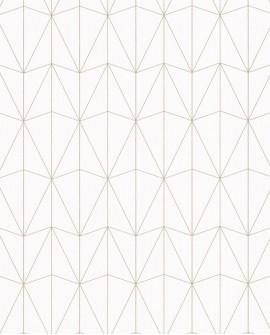 Papier peint géométrique Caselio SCARLETT CHRYSLER BLANC OR SRL100441066