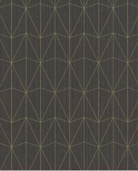 Papier peint géométrique Caselio SCARLETT CHRYSLER NOIR SRL100449134