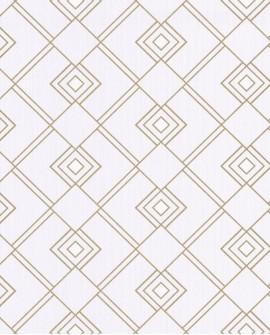 Papier peint géométrique Caselio SCARLETT GATSBY BEIGE OR SRL100471002