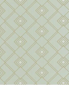 Papier peint géométrique Caselio SCARLETT GATSBY VERT AMANDE OR SRL100477086