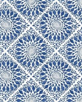 Papier peint Rasch Cabana Carreaux Soleil Bleu 140-148612