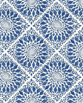 Papier peint Esta Home Cabana Carreaux Soleil Bleu 148612