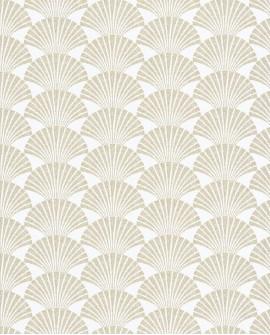 Papier peint géométrique Caselio SCARLETT PEARL BLANC OR SRL100490020