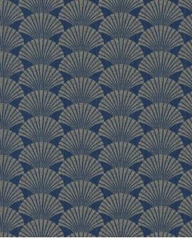 Papier peint géométrique Caselio SCARLETT PEARL BLEU NUIT OR SRL100496025