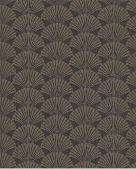 Papier peint géométrique Caselio SCARLETT PEARL ANTHRACITE OR SRL100499029