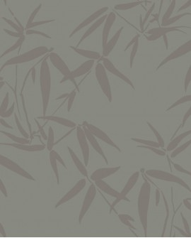 Papier peint exotique Lutece City Chic Bambous taupe et bronze 347739