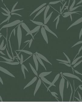 Papier peint exotique Lutece City Chic Bambous vert bronze et argent 347738