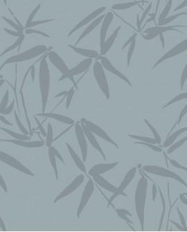 Papier peint exotique Origin City Chic Bambous beige et bleu 347737