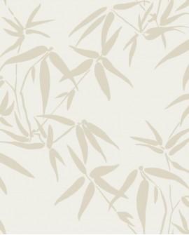 Papier peint exotique Lutece City Chic Bambous beige et or 347735