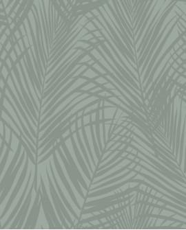 Papier peint exotique Lutece City Chic Feuilles de palmiers vert nacré 347709