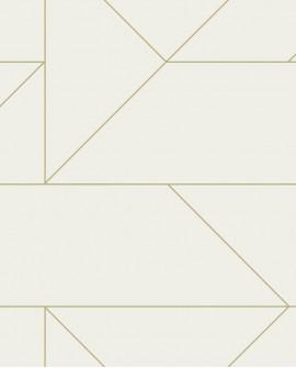 Papier peint géométrique Lutece City Chic Ligne graphique creme et or 347720