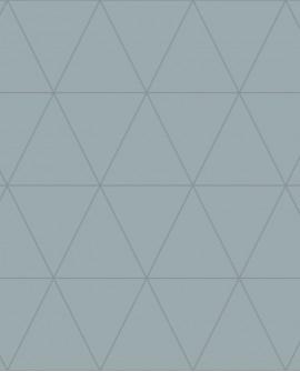 Papier peint géométrique Lutece City Chic Triangle argent fond bleu gris 347713