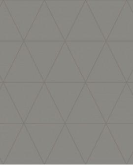 Papier peint géométrique Lutece City Chic Triangle argent fond gris 347716
