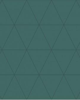 Papier peint géométrique Lutece City Chic Triangle argent fond vert 347717