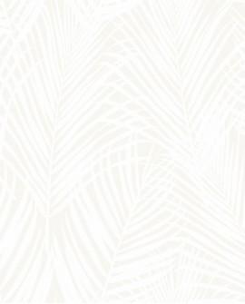 Papier peint exotique Origin City Chic Feuilles de palmiers beige et nacre 347741