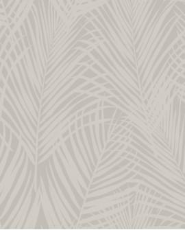 Papier peint exotique Origin City Chic Feuilles de palmiers beige et taupe 347743