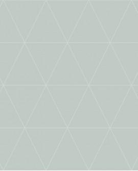 Papier peint géométrique Origin City Chic Triangle vert irisé 347745