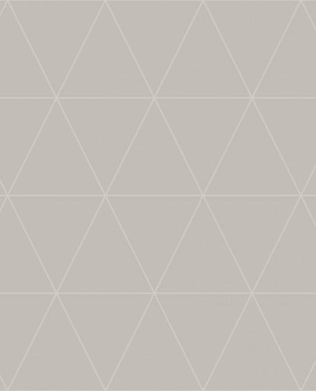 Papier peint géométrique Origin City Chic Triangle beige fond taupe nacre 347744