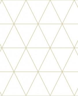 Papier peint géométrique Lutece City Chic Triangle or fond crème 347682