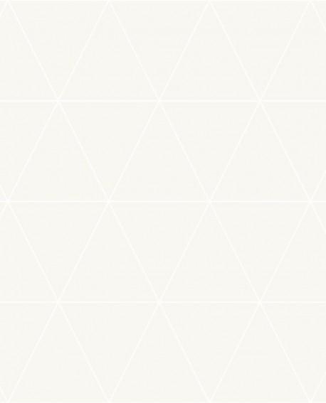 Papier peint géométrique Origin City Chic Triangle blanc fond nacre 347706
