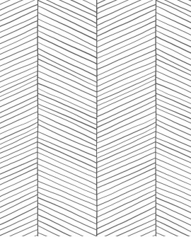 Papier peint exotique Black, White and Gold Esta Home Chevrons noir et blanc 139106