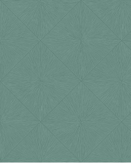 Papier peint géométrique Casadeco Utopia Perception Turquoise UTOP85136522