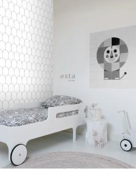 Papier peint Art Déco Black, White and Gold Esta Home Blanc et Noir 139140