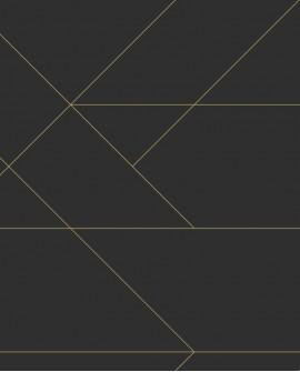 Papier peint géométrique Black, White and Gold Esta Home Lignes Graphiques Noir et or 139144