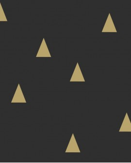 Papier peint Black, White and Gold Esta Home Triangle Or 139123
