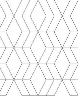 Papier peint géométrique Black, White and Gold Esta Home Noir et blanc 139149