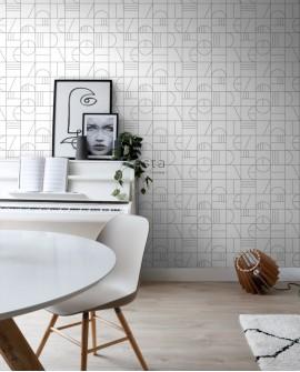 Papier peint Black, White and Gold Esta Home Art Déco Blanc et Noir 139142