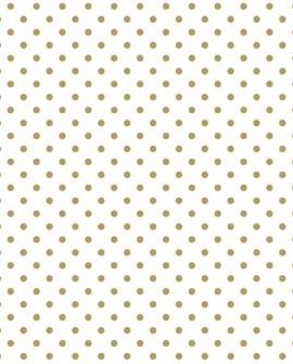 Papier peint Black, White and Gold Esta Home Pois Doré 139113