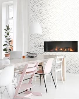 Papier peint Black, White and Gold Esta Home Confettis Doré 139127
