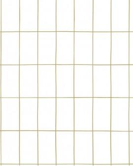 Papier peint Black, White and Gold Esta Home Carrelage Blanc 139131