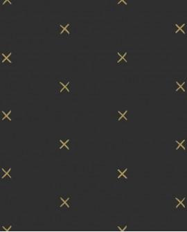 Papier peint Black, White and Gold Esta Home Croix Doré 139130