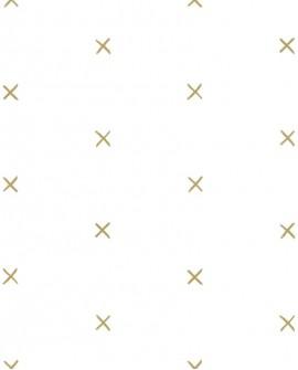 Papier peint Black, White and Gold Esta Home Croix Doré 139129