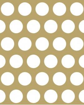 Papier peint Black, White and Gold Esta Home Pois Blanc 139116