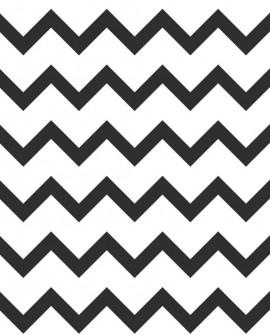 Papier peint Black, White and Gold Esta Home Chevrons Noir et blanc 139115