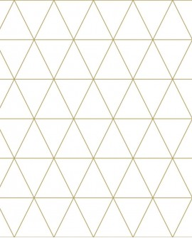 Papier peint Black, White and Gold Esta Home Triangle or 139147