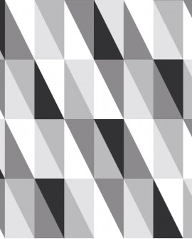 Papier peint Black, White and Gold Esta Home Triangle Noir, gris et blanc 139121