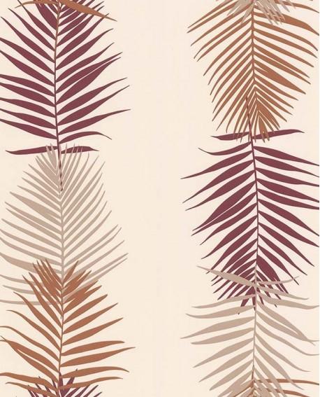 Papier peint exotique Lutèce Bensimon Feuilles Palme Beige 51173107