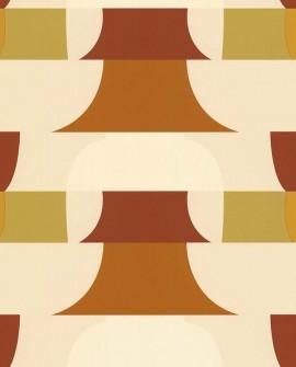 Papier peint géométrique Lutèce Bensimon Déco 70 S Beige 51201007